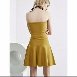 NWT C/MEO COLLECTIVE STRAPLESS MINI DRESS size S